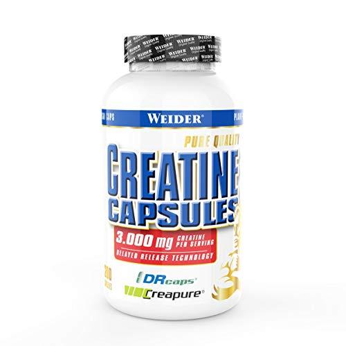 Weider Creatine Capsules (Creapure Kreatin Monohydrat 200 Kapseln, Krafttraining)