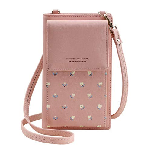 fdb1dcbb1a88 Zohong Small Crossbody Shoulder Bag Cell Phone Purse Wallet with Credit  Card Slots for Women Cameo