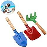 NUOLUX 3pcs herramientas de jardín al aire libre Set Rake Shovel niños playa sandbox juguetes