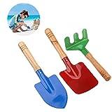 NUOLUX Im freien Garten Werkzeuge Set Rechen Schaufel Kids Beach Sandkasten Spielzeug 3st