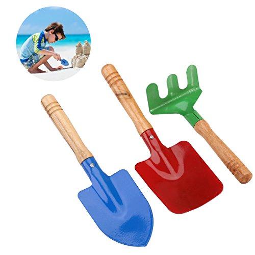 TOYMYTOY 3pcs al aire libre jardín herramientas sistema rastrillo pala niños playa arenero juguete