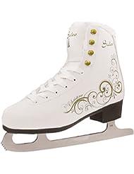 sulov Mujer Christine Patines de patinaje, color blanco, tamaño 42