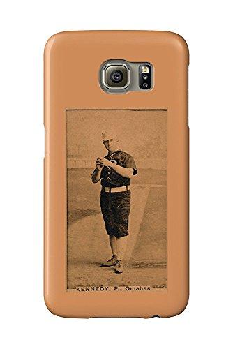 Omaha Minor League - Ted Kennedy - Baseball Card (Galaxy S6 Cell Phone Case, Slim Barely There) -