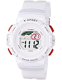 0764b067ca48 SYNOKE - Reloj Infantil para Niños Niñas Impermeable Deportivo Redondo  Multifusiones Luz de Fondo Cronómetro con Alarma…