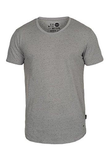 !Solid Thias Herren T-Shirt Kurzarm Shirt mit Rundhalsausschnitt, Größe:S, Farbe:Mid Grey (2842)