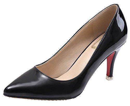 SEXYHER Peinture 2.0 En mariage High Heel Bureau Party Femmes Chaussures-SHOHE 003 ¨¤ 2,0 Noir