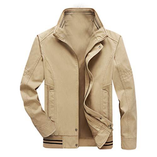 Tosonse Bomberjacke Herren Herbst Lässige Mode Reine Farbe Patchwork Parka Jacke Herren Jacke Reißverschluss Outwear Mantel