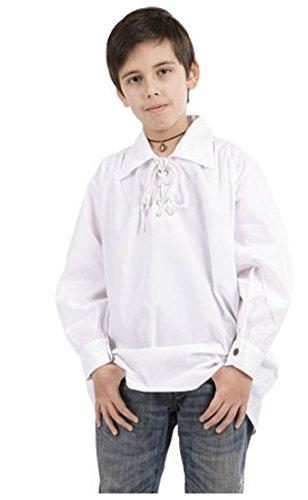 (Bäres Mittelalter Hemden, Tuniken kleiner Recke - Kinder Markthemd - Kinder Rupert für 12-14 jährige/weiss)