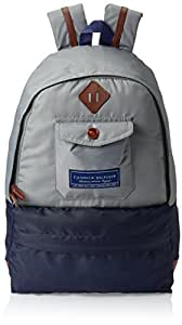 Tommy Hilfiger Georgia Grey and Navy Casual Backpack (TH/GEO07BP0314)