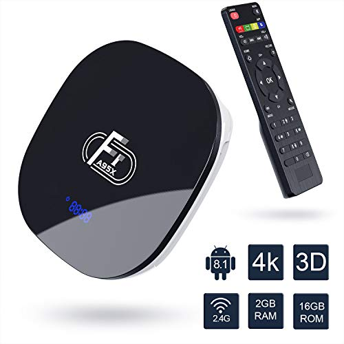 TV Box Android 8.1-Dolamee F1 2GB RAM+16GB ROM Mini Smart TV Box con Amlogic Quad Core 64 bits /4K HD/3D/2.4GHz...