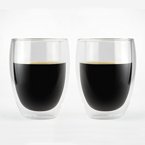 KOFFI KUP – Double Walled Glasses 250ml/300ml/350ml/450ml – Borosilicate Glass – For Tea, Coffee, Latte, Cappuccino, Beer & AeroPress 41bS1zkQD L