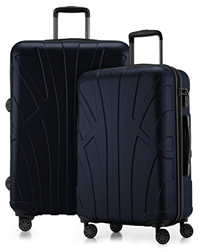 Suitline - 2er Koffer-Set Trolley-Set Rollkoffer Hartschalen-Koffer Reisekoffer, TSA, (66 cm, 76 cm), 100{a331b77987c9a80c52cb2748e3df00528eb1d1a833fec71ecdf84134f903b1ba} ABS, Matt