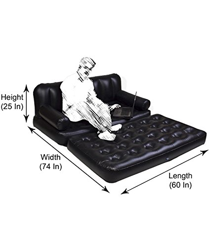 HSR 5 in 1 Inflatable Three Seater Queen Size Sofa Cum Bed with Pump Image 3