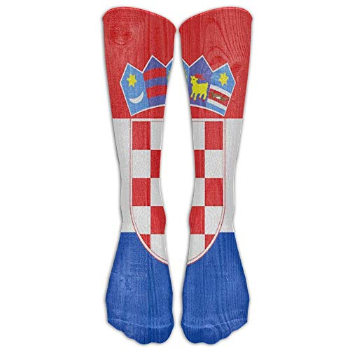 Funny Caps Croatia Flag Youth Soccer Socks Teens Knee High Football Socks Long Striped Rugby Tube Socks. 19.68 in/50 cm -