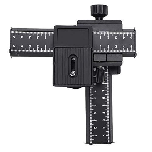 """4 Wege Makro Fokussierschiene Slider Stativkopf Makro Slider mit 1/4\""""Befestigungsschraube für Close-up Shooting, 18 * 16,5 * 9 cm"""