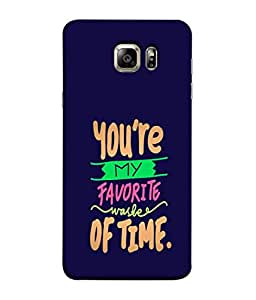 PrintVisa Designer Back Case Cover for Samsung Galaxy S6 Edge+ :: Samsung Galaxy S6 Edge Plus :: Samsung Galaxy S6 Edge+ G928G :: Samsung Galaxy S6 Edge+ G928F G928T G928A G928I (Feelings Waste of Time Favourite )