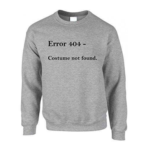 Error 404 Halloween Printed Slogan Zitat Design Premium-Qualität Unisex-Pullover (404 Halloween Kostüm)