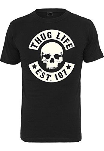 Thug Life T-shirt (Thug Life Skull T-Shirt schwarz (S))