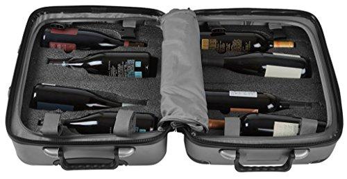 VinGardeValise 02 Petite | Maleta de Viaje para vinos & de usos múltiples | 57 x 45 x 30 cm | hasta 8 Botellas (Gris)