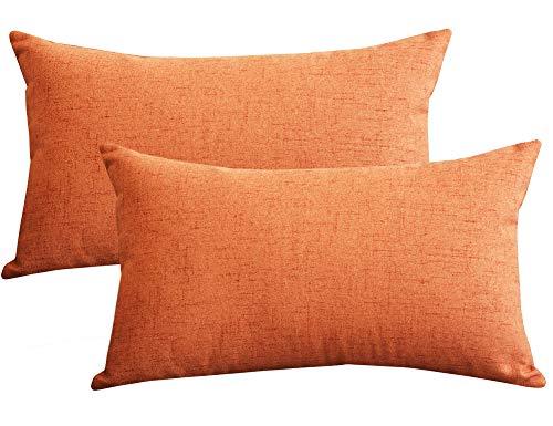 Lutanky Paquete de 2  Fundas de almohada de tiro de lino preciosas...