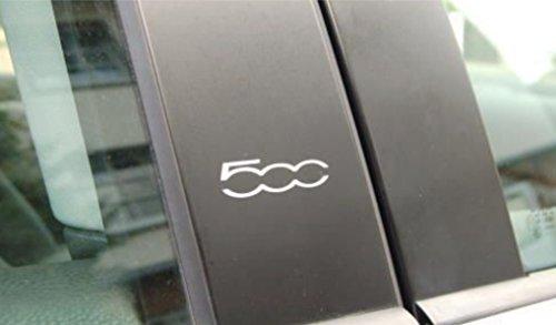 2-x-fiat-500-chrome-vinyl-door-pillar-stickers-decals-graphic-adhesive