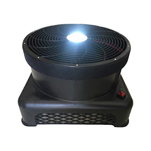 3/4 PS energieeffiziente Luftgebläse, tragbare Fernbedienung LED-Beleuchtung Aufblasbares Schlag-Haus mit hohen Geschwindigkeit rotierenden Ventilator für Ereignis, Promotion,Schwarz,Whitelight