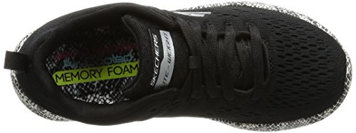 Skechers Burst-Be Brave, Sneaker Donna Nero (Black/white)