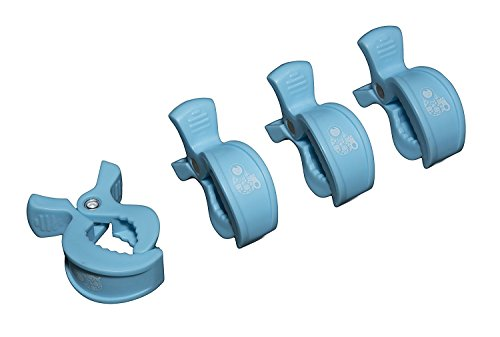 Carrozzina pioli–facile da fissare in mussola panno o giocattoli al passeggino, colore: blu