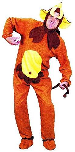 Foxxeo 10096 | Affenkostüm Kostüm Affe Tierkostüm Kostüm Banane, Größe:M/L