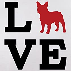 Love French Bulldog Dog Silhouette - Unisex Hoodie / Hooded Top - 12 Colours