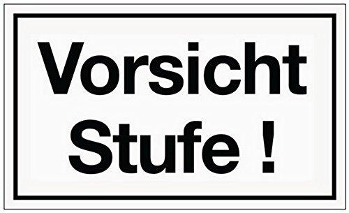 Schild Vorsicht Stufe B.250xH.150mm Kunststoff weiß/schwarz