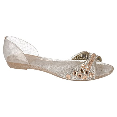 Spot On - Scarpette basse con Diamanti - Donna Blu reale