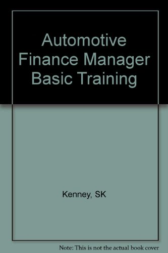 Automotive Finance Manager Basic - Finance Automotive
