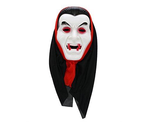Komonee Dracula Vampir Weiß Erwachsene Halloween Maske (HM2) Vampir Halloween-maske