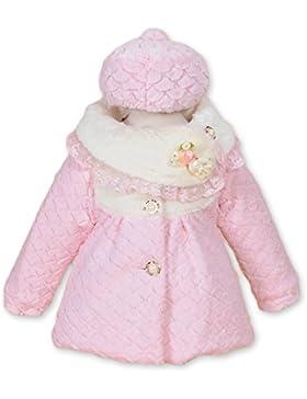 Cinda De manga larga de las muchachas chaqueta de color rosa con el sombrero