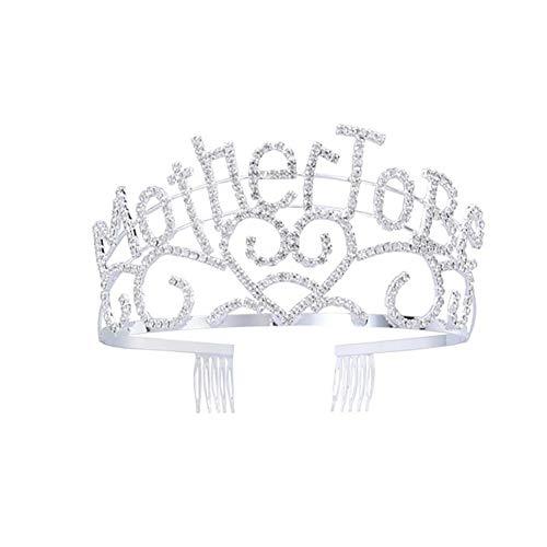 Xiton Party Supplies 1 Stück Mutter zu Tiara Silber Herz-Krone nette Stirnbänder Babypartybevorzugungen Supplies-großes Geschenk für neue Mamma Seien