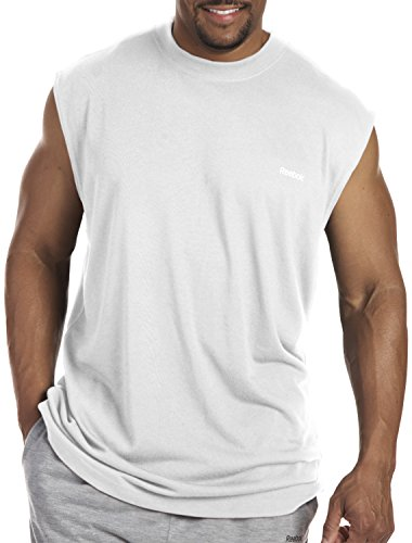 Maglietta Dry Muscle Big & Tall Play (7XL (7X), bianca) White