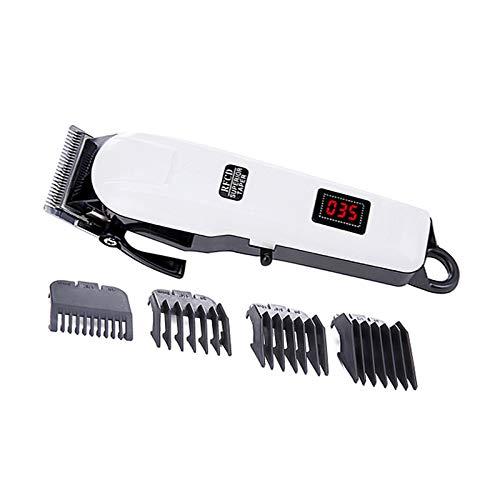 Tête de coupe en acier inoxydable tondeuse électrique pince à cheveux LCD rechargeable radio