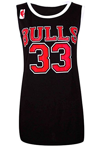 "Desire Clothing Gilet de Style Basketball NBA Chicago Bulls 33 pour le Celeb Look ""Amerika BULLS: BLACK"