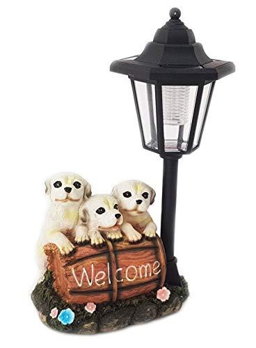 Statuetta decorativa forma di cucciolo di cane con lanterna 31