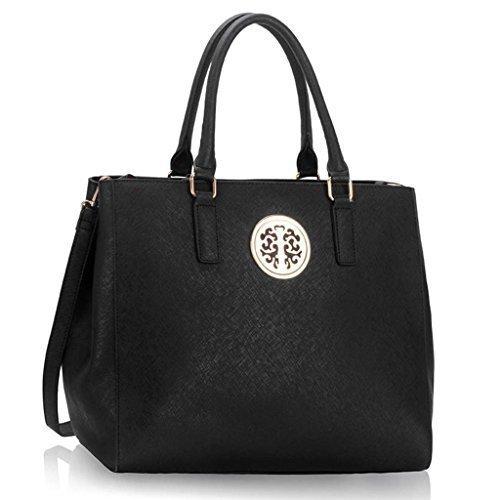 TrendStar Trendstar Damenhandtaschen Der Frauen Schulterbeutel Designer Neue Promi Stil Trage Groß (Lila Trage Bag1) (Satchel Zurück Zip)