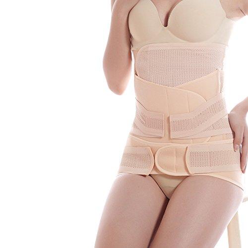 Contever® 3 en 1 Poreux Ceinture de ventre Bande gastrique Ceinture de bassin pour femme apres partum / Après grossesse / Maternité/ Ceinture abdominale Personnes travaillant et La lombalgie - Taille