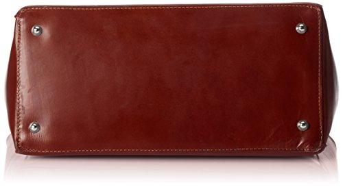 CTM Porta documenti da lavoro da Donna, 40x30x10.5cm, Vera pelle 100% Made in Italy Marrone