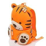 Pandana® Kinderrucksack Tommy Tiger mit Brustgurt für Jungen und Mädchen im Kindergarten oder Kita für 3 bis 5-Jährige, aus isolierendem Neopren mit Anti-Lost-System