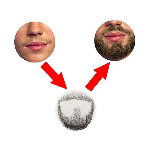 / Bart aus Echthaar, handgefertigt, Herren, für Kostüm- und Halloween-Party Stil 3 (Fake Kurze Bart)