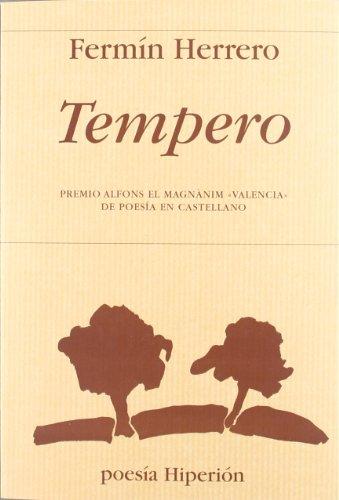 Tempero: Premmio Alfons el Magnànim «Valencia» de Poesía en Castellano (Poesía Hiperión)
