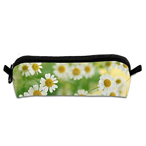 Beautiful Daisy Flower Heart Pen Pencil Stationery Bag Makeup Case Travel Cosmetic Brush Accessories
