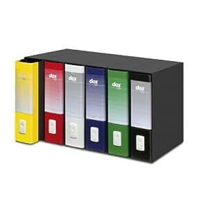 Rexel d26110 bo te de rangement avec classeurs a4 noir for Boite de rangement papier bureau