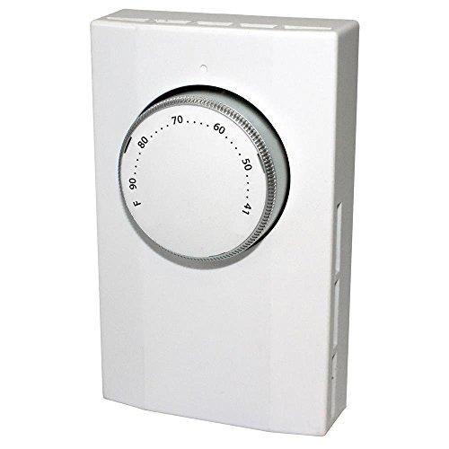 King Electric K101-C Bi-Metal Cooling Thermostat, Line Voltage, 1-Pole, 120-277V, 22 Amp