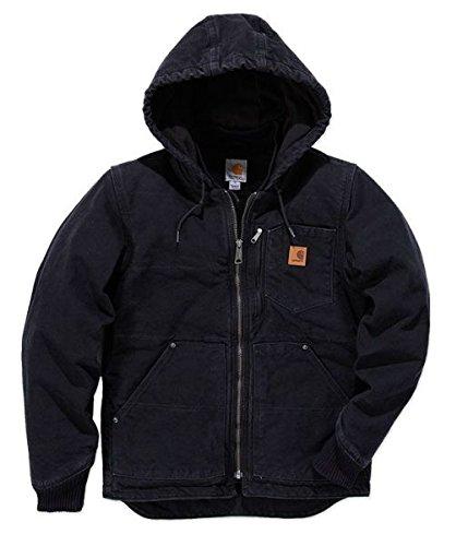 Jacke für Herren aus Baumwollstoff Modell Carhartt 100729 Sandstone Chapman Schwarz Jacket Black M Schwarz